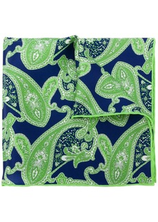 Kiton paisley print handkerchief