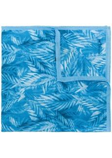 Kiton palm print handkerchief