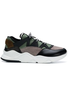Kiton panelled lace-up sneakers