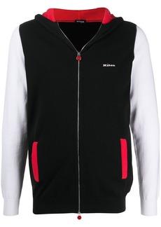 Kiton panelled logo hoodie