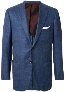 Kiton patch pocket single-breasted blazer