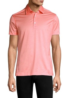 Kiton Pique Short-Sleeve Polo