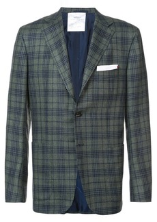 Kiton plaid blazer