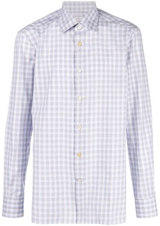 Kiton plaid button shirt