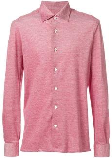 Kiton plain piquet shirt