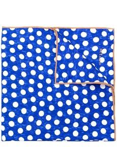 Kiton polka dot print scarf