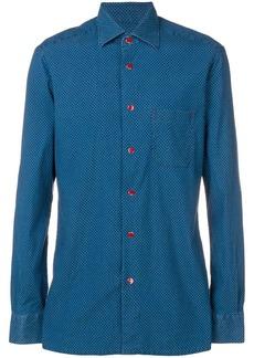 Kiton polka dot-print shirt