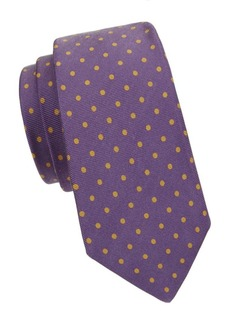 Kiton Polka Dot-Print Silk Tie