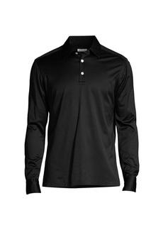 Kiton Positano Linen Long-Sleeve T-Shirt