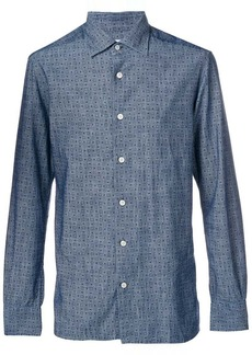 Kiton printed fitted shirt