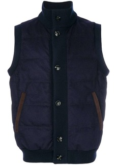 Kiton quilted gilet
