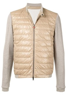 Kiton quilted jersey sleeves jacket