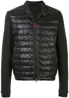 Kiton quilted jersey-sleeves jacket