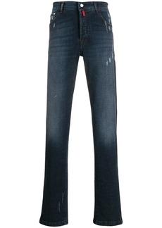 Kiton regular faded jeans
