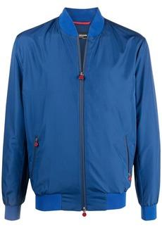Kiton rib-trimmed bomber jacket