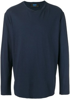 Kiton roll stiched long-sleeved T-shirt