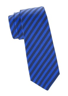 Kiton School Stripe Silk Tie