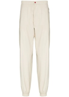 Kiton logo-print tapered track pants