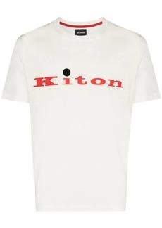 Kiton logo-print crew-neck T-shirt