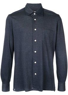 Kiton slim-fit denim shirt
