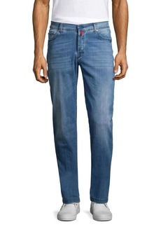 Kiton Slim-Fit Light Wash Jeans