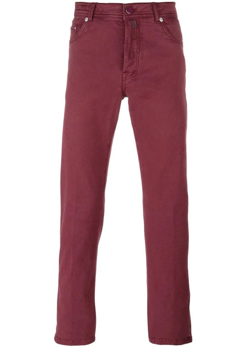 Kiton slim-fit trousers