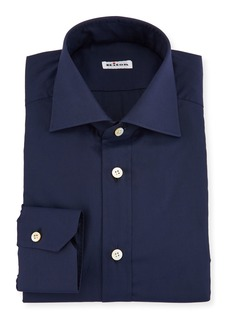 Kiton Solid Broadcloth Dress Shirt