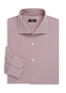 Kiton Spread Collar Check Shirt