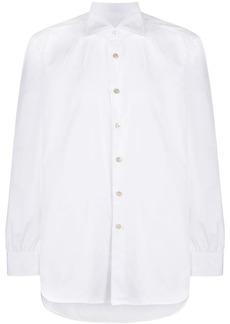 Kiton spread-collar shirt
