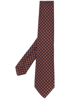 Kiton square patterned tie