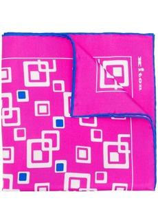 Kiton square printed scarf
