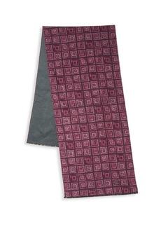 Kiton Squares Silk Scarf