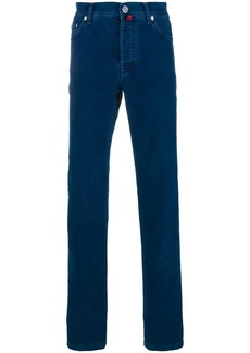 Kiton straight leg solid jeans