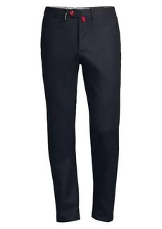 Kiton Straight-Leg Stretch Wool Pants