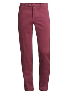 Kiton Stretch Straight Flat-Front Pants