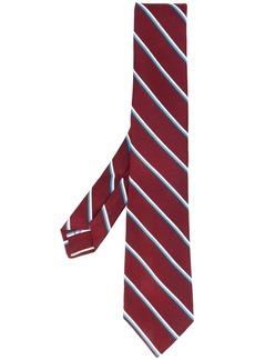 Kiton stripe print tie