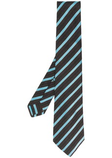 Kiton striped print tie