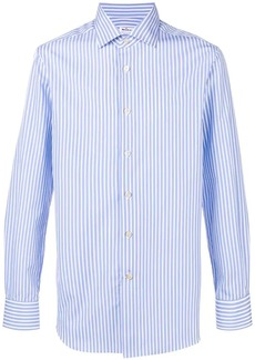 Kiton striped slim fit shirt