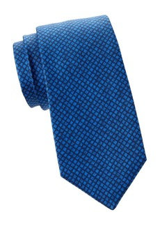 Kiton Textured Check Silk Tie