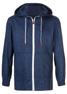 Kiton textured zipped hoodie