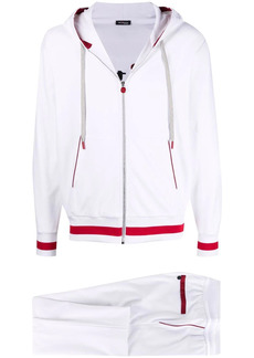 Kiton two-tone zip-hoodie tracksuit