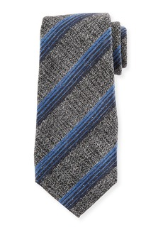Kiton Variegated Stripe Wool/Silk Tie