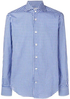 Kiton vichy button down shirt