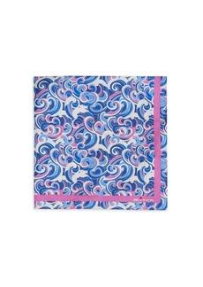 Kiton Wave-Print Silk Pocket Square