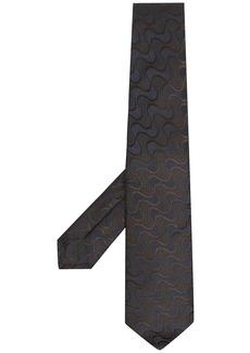 Kiton wave print tie