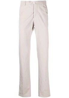 Kiton white cotton-blend chinos