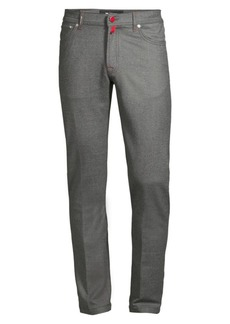 Kiton Wool-Blend Straight Leg Trousers