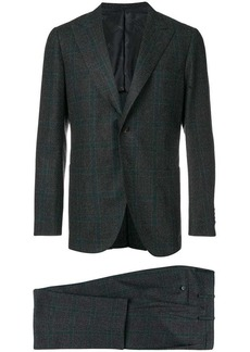 Kiton woven checked suit