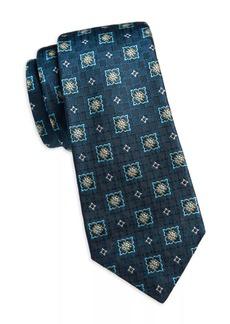 Kiton Woven Squares Silk Tie