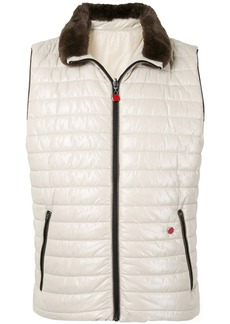 Kiton zip up quilted gilet